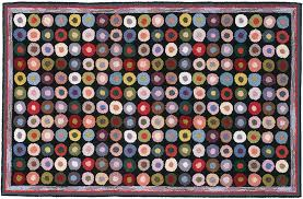 Claire Murray Washable Rugs by Button Pattern 3x5 Hand Hooked Rug Claire Murray