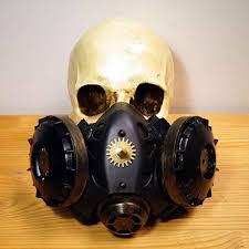 Gas Mask Costume Aliexpress Com Buy Vintage Silver Black Metallics Resin