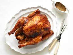 roast turkey with mustard maple glaze recipe bobby flay food