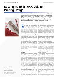 developments in hplc column packing design pdf download available
