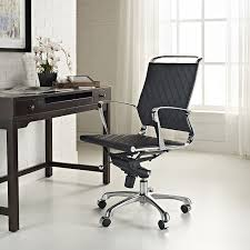 amazon com modway vibe modern leather midback office chair