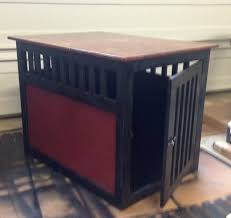 dog kennel side table large dog crate side table best table decoration