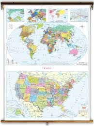 United States On A Map by Klett Perthes Economy Stacked United States U0026 World Political Map