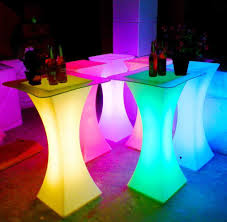 led square cocktail table led furniture thailand
