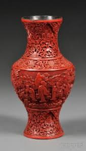 Cinnabar Vases Search All Lots Skinner Auctioneers