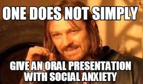 Oral Memes - meme creator one does not simply give an oral presentation with