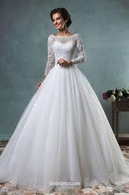backless wedding dresses gown boat neckline lace tulle backless wedding dress