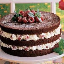 chocolate torte with raspberry filling recipe taste of home