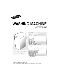 samsung wa80p1b user manual