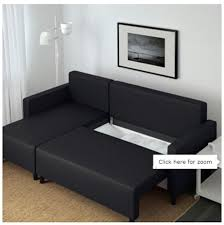 ikea double bed very new ikea black sofa chaise longue and double bed in one