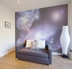 4 murs papier peint chambre peint mur avec vue de l espace pixers