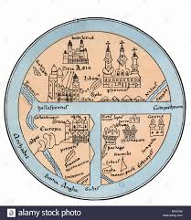 Dr Map Cartography World Maps Middle Ages Map From The Leipzig Codex