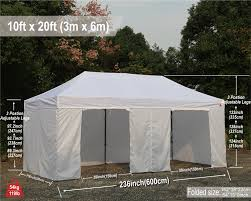 10 X 20 Shade Canopy by 10x20 Abccanopy Pop Up Canopy Commercial Shelter Backyard Gazebo