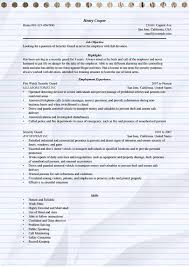Security Guard Sample Resume by Security Guard Resume Objective Template Billybullock Us