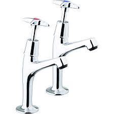 Wickes Trade Kitchen Sink Pillar Taps Chrome Wickescouk - Kitchen sink pillar taps