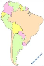 outline of south america map south america outline map