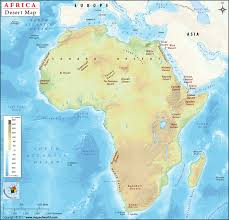 Africa Map by African Deserts Map Deserts In Africa