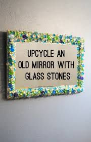 upcycled glass mirror with stones title bexbernard