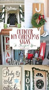 Outdoor Decorative Signs 400 Best Christmas Outdoor Decor Images On Pinterest La La La