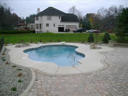 ideas above ground pool landscaping with pavers backyard pool