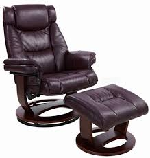 savuage bordeaux bonded leather modern recliner chair w ottoman