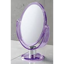 shop nameeks mirror purple plastic magnifying countertop vanity
