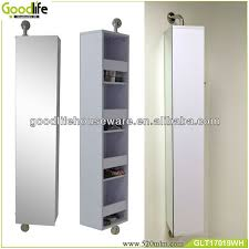 rotating storage cabinet with mirror modern design wall mount 360 degree rotating bathroom storage