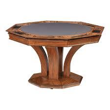 treviso octagonal poker dining table w bumper pool u2013 darafeev