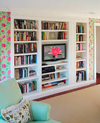 stunning contemporary custom bookshelves offer modular detail with