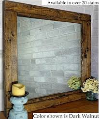 renewed décor farmhouse mirror in 20 stain colors