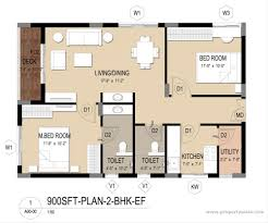 bhk house plans designs home design and style at sqft flat