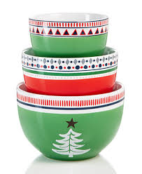 festive tree collection 3 pc nesting bowls set created for