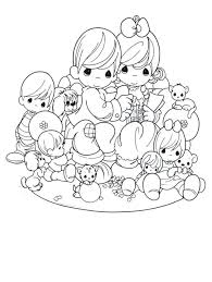 38 coloring pages precious moments images