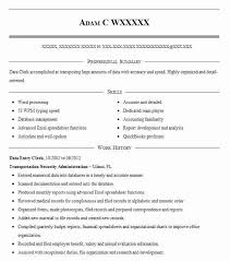 File Clerk Job Description Resume by Best Data Entry Clerk Resume Example Livecareer