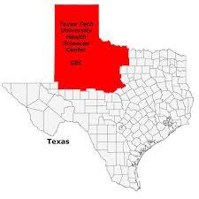 Lubbock Texas Map The Ttuhsc Geriatric Education Center