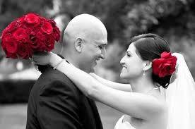 stylish deep red rose wedding veil bridal flower hair clip