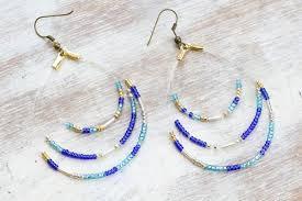 hoop beaded earrings seed bead hoop earrings maker crate