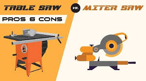 compound miter saw vs table saw what are the pros and cons of a table saw vs a miter saw quora