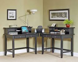 Black Corner Desk With Drawers Magnificent Black Wooden Corner Study Desks Grey Wall Paint Color