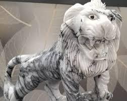 marble lion vintage marble lion etsy