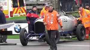 vintage bentley big crash goodwood vintage bentley 2015 youtube