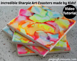 Homemade Coasters Incredible Sharpie Art Coasters Made By Kids
