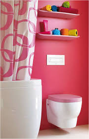 teen girls bathroom ideas with shower curtains and towel racks and