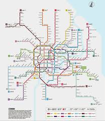 Shanghai Subway Map by Mercedes Benzarena