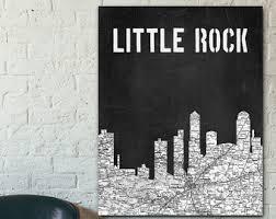 Little Rock Skyline Etsy - Home decor little rock