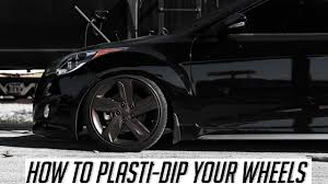 nissan veloster black how to plasti dip your wheels veloster turbo vlog youtube
