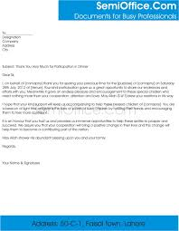 sample letter of thank you for participation