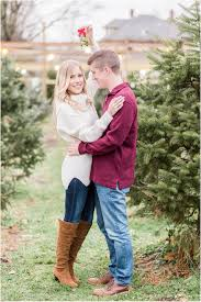 mistletoe acres tree farm engagement meredith jane photography