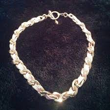 pink leather necklace images Jewelry pink leather and gold chain link necklace poshmark jpg