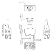 toggle switch 20 amp 0 250 flat terminal dpst mom off wiring